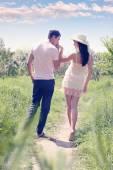 Políbit ruku, tónovaná — Stock fotografie