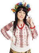Ukrainian flirtatious woman — Stock Photo