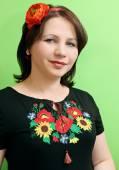 Ukrainian with poppy — Stock Photo