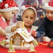 Three kids in caps decorated — Stock Photo #60925533