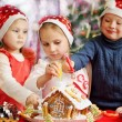 Three kids decorated — Stock Photo #60925537