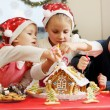 Three kids in caps decorated — Stock Photo #60925567