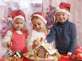 Decorate la casa di marzapane — Foto Stock