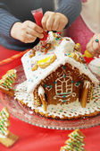 Children decorate the house — Stock Photo