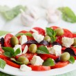 Garlic salad with cheese — Stock Photo #60933981