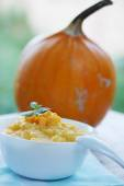 Cereal with pumpkin and mint — Stock Photo