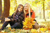 Two smiling girls, tinted — Stock Photo