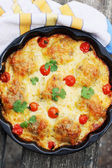 Casserole in a pan — Stock Photo