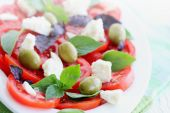 Italian salad with tomato — Stock Photo