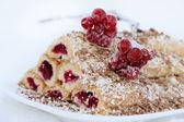 "Cake ""Monastic hut"" with berries of Viburnum — Stock Photo"