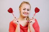 Hearts on a stick — Stock Photo