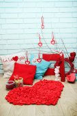 Festive decorations for Valentine's Day — Foto Stock