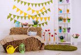Bright festive interior — Fotografia Stock