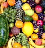 Huge group of fresh fruit - High quality studi shot — Stock Photo