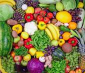 Huge group of fresh vegetables and fruit - High quality studio s — Stock Photo