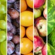 Fruit collage - Group of various fresh fruits — Stock Photo #51932241