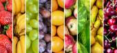 Fruit collage - Group of various fresh fruits — Stock Photo