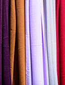 Colored scarves texture — Stock Photo