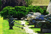 Military canons and tanks at Kalemegdan fortress as a part of Mi — Stockfoto