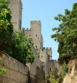 Castle in Rhodes Greece - The Palace of the Grand Master of the  — Stock Photo