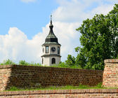 Sahat Tower (Clock Tower), Kalemegdan fortress in Belgrade, Serb — Stock Photo