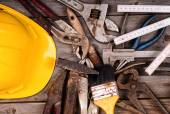 Vintage construction tools background — Stock Photo
