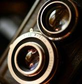 A retro camera lens macro shot with shallow DOF — Stock Photo