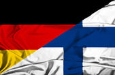 Waving flag of Finland and Germany — Foto Stock
