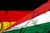 Waving flag of Seychelles and Germany — Stock Photo