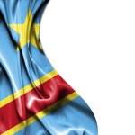 Congo Democratic Republic waving satin flag isolated on white ba — Stock Photo #64127265