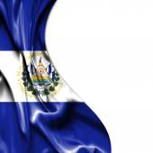 El Salvador waving satin flag isolated on white background — Stock Photo
