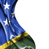 Solomon Islands waving satin flag isolated on white background — Stock Photo