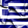 Greece waving flag — Stock Photo #64209921