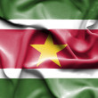 Suriname waving flag — Stock Photo #64232573