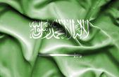 Saudi Arabia waving flag — Stock Photo