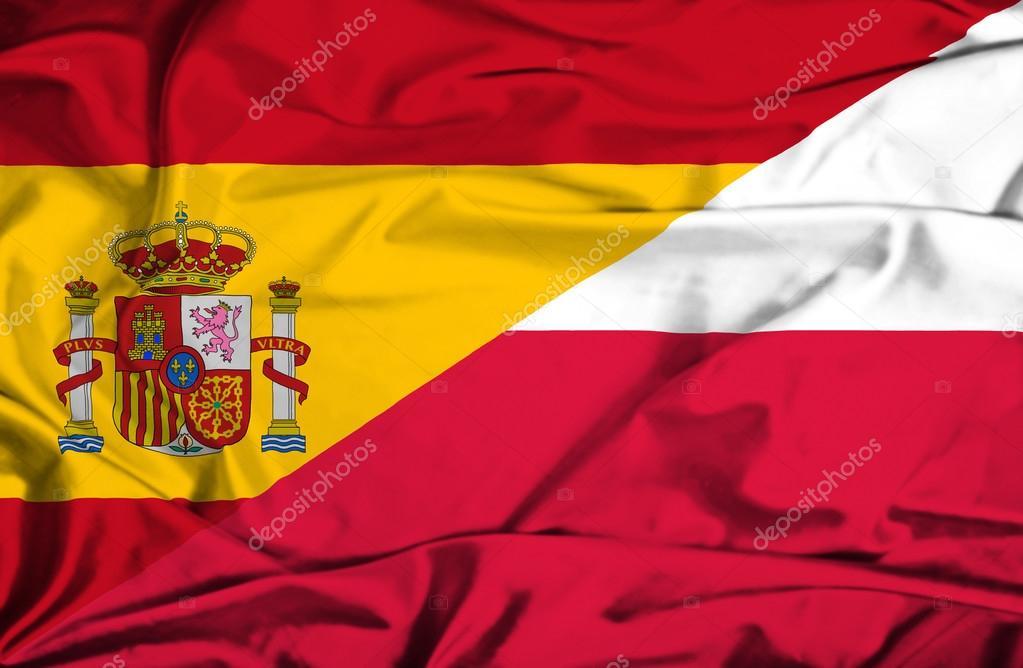 Bandera De Polonia Y España