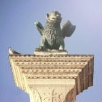 Saint Marks Winged Lion Venetian Symbol Column 12th Century Orig — Stock Photo #65469769