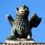 Saint Marks Winged Lion Venetian Symbol Column 12th Century Orig — Stock Photo #65469807