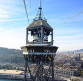 Montjuic teleferik (teleferic de montjuic) Barcelona, İspanya — Stok fotoğraf