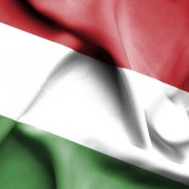 Hungary waving flag — Stock Photo