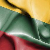 Litwa macha flagą — Zdjęcie stockowe
