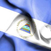 Nicaragua waving flag — Stock Photo