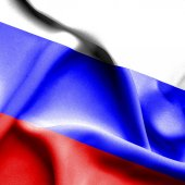 Russia waving flag — Stock Photo