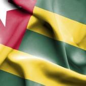Togo waving flag — Stock Photo