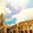 Colosseum in Rome with blue sky — Stock Photo #72905369