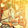Carousel -  Fair conceptual background with horses in vintage to — Stock Photo #72903003