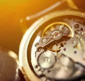 Extreme macro shot of watch mechanism — Stock Photo