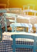 Traditional Greek restaurant — Stock Photo