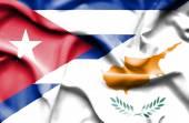 Waving flag of Cyprus and Cuba — Stock Photo