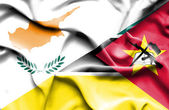 Waving flag of Mozambique and Cyprus — Stock Photo